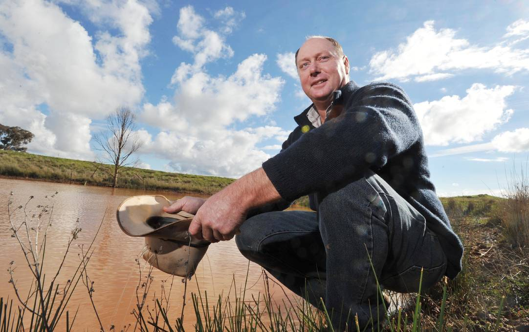 SEASONAL OUTLOOK: Garry Armstrong of Marrar is hoping for more rain.
